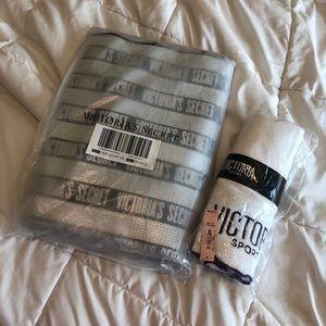 Victoria Secret: Sequined Tote Bag + Sport Towel